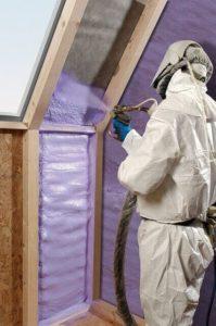 Huis met polyurethane isoleren